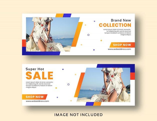 Sale banner facebook cover template