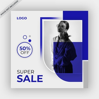 Sale banner or post template