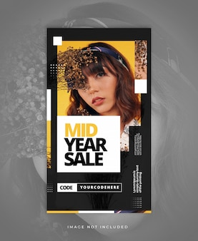 Sale clean modern instagram stories template