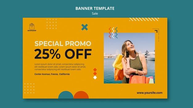 Sale concept banner template