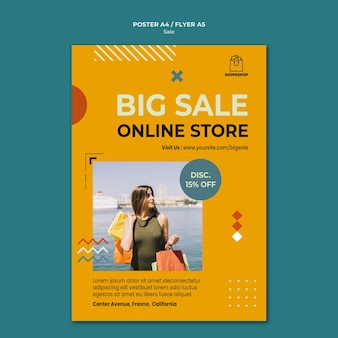 Sale concept flyer template