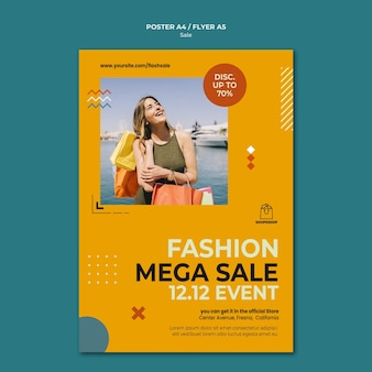 Sale concept poster template