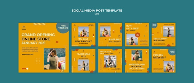 Sale concept social media post template