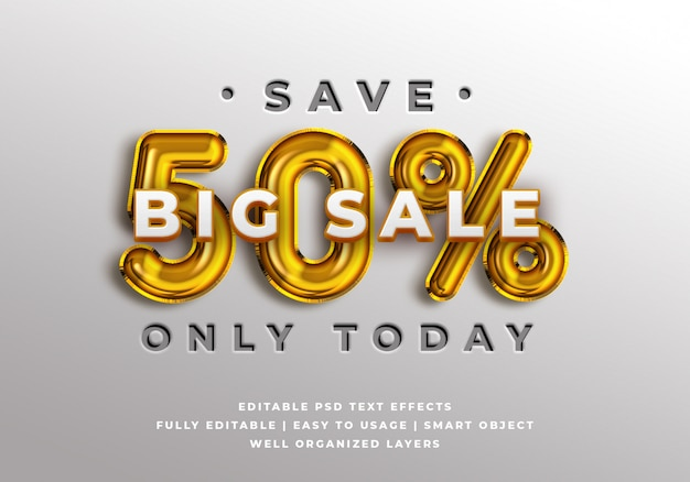 Sale discount banner text style effect