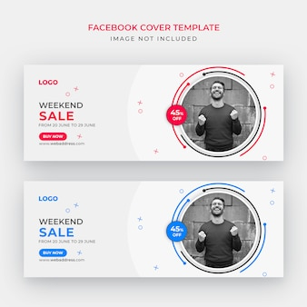 Sale facebook cover or web banner template