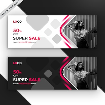 Sale facebook promotional cover