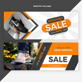 Sale facebook timeline cover banner design template
