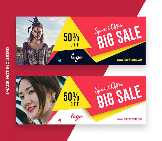 Sale fashion facebook timeline cover banner