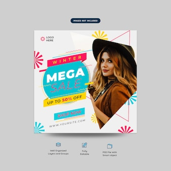 Sale fashion social media web banner template