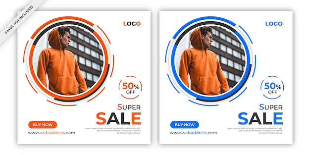 Sale instagram post or banner template