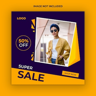 Sale instagram social media post template