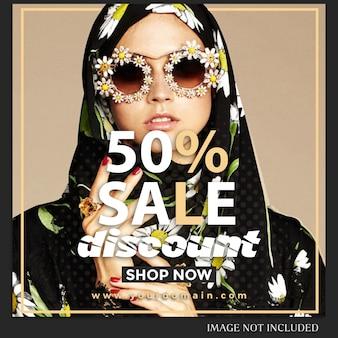 Sale instagramのポストテンプレート