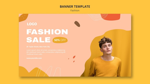 Sale male fashion banner template