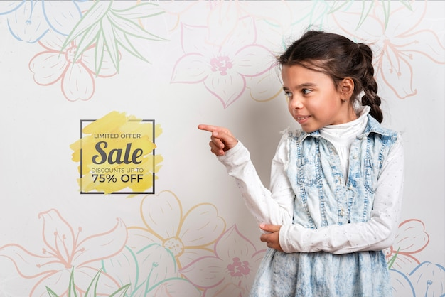 Sale offer cute young girl