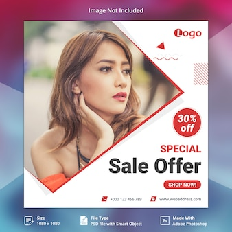 Sale offer instagram post or square banner template