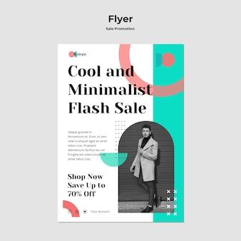 Sale promotion flyer template