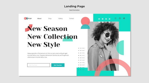 Sale promotion landing page template