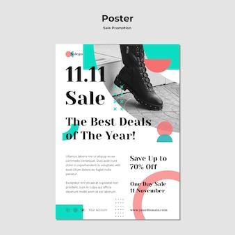 Шаблон рекламного плаката продажи