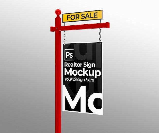 Sale real estate sign mockup for presentations or branding