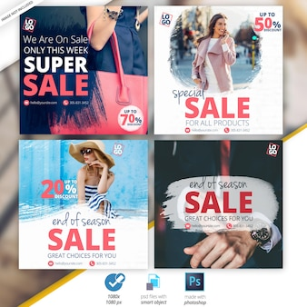 Sale social banners