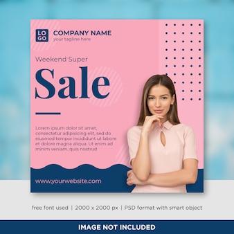 Sale social media banner template