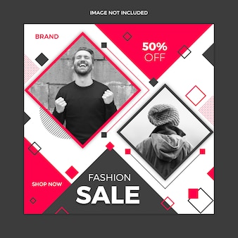 Sale social media post template design
