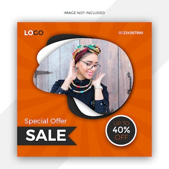 Sale social media post template design