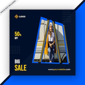 Sale social media post template