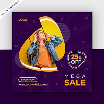 Sale social media post template