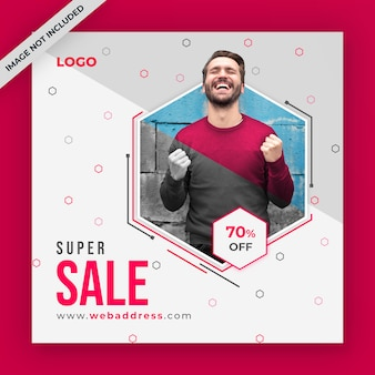 Sale social media post or web banner template