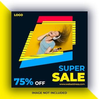 Sale social media posts banner