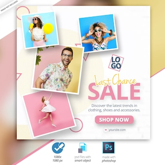 Sale social media web banner ad