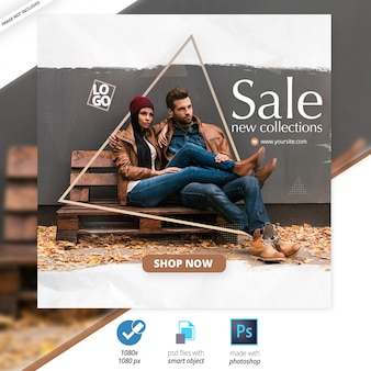 Sale social media web banners