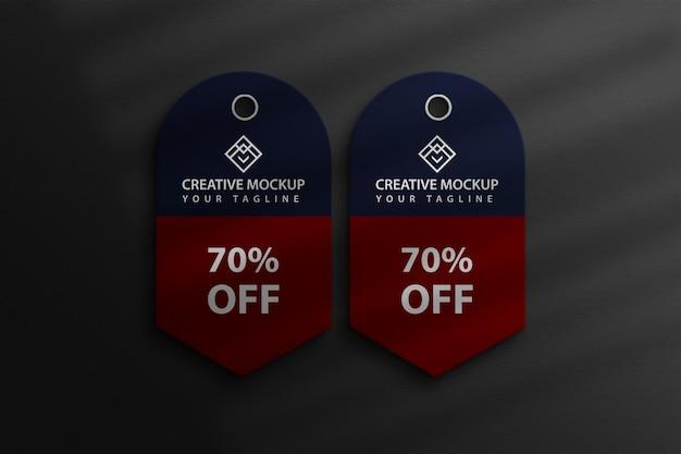 Sale tag mockup design