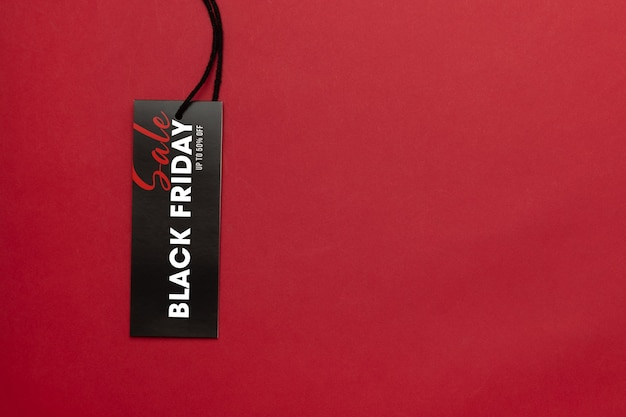 Sale tag with black friday campaign mockup