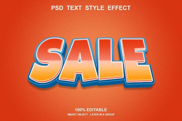 Редактируемый эффект стиля продажи текста