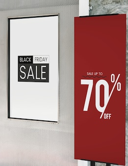 Sale up to 70% off poster mockup