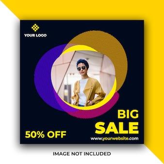 Sale web social media post banner