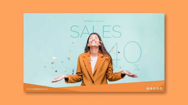 Sales banner template with image