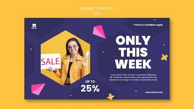 Modello di banner orizzontale di vendita