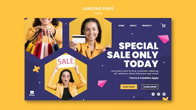 Sales landing page template