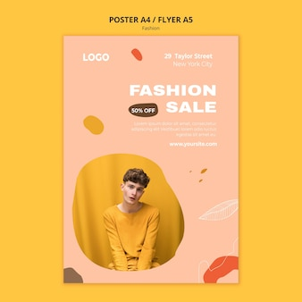 Sales male fashion poster template