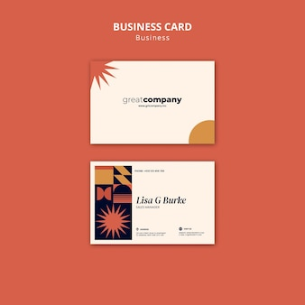 Sales manager business card template