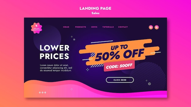 Sales offers landing page