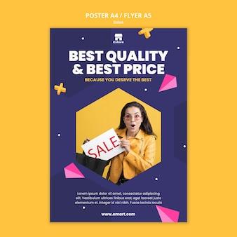Modello di stampa di vendita con foto