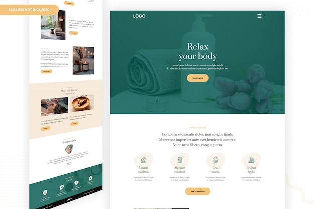 Salon website page design