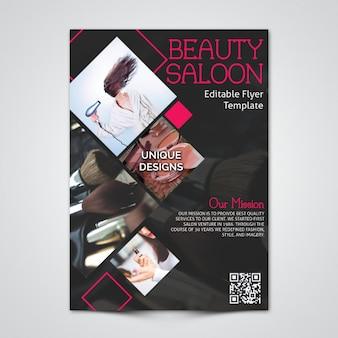 Saloon flyer template