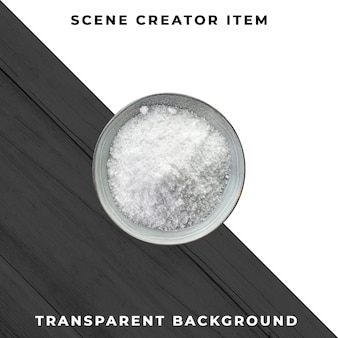 Salt isolated with clipping path.