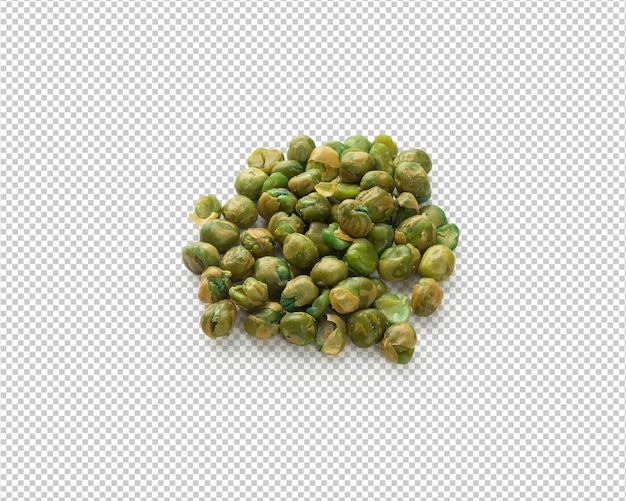 Salted green peas isolated