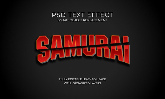 Samurai text effect